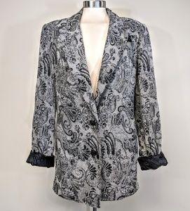 Cache Jackets & Coats - Cache Oversized Paisley Chenille Blazer